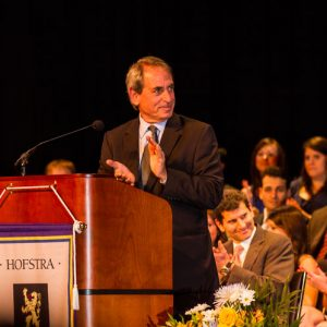 Dean Eric Lane addresses Hofstra Law's 2013 graduation award recipients and ceremony attendees on Monday, May 20, 2013.