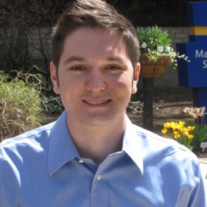 Photo of Anthony Schroth, Class of 2016, Hofstra Law, outside the Law School