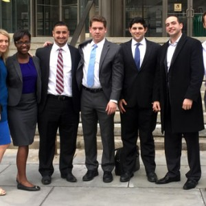 Hofstra Law Mock Trial Team at the New York Regional of the American Association for Justice 2016 Student Trial Advocacy Competition