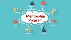 Mentorship Program graphic (aqua background)