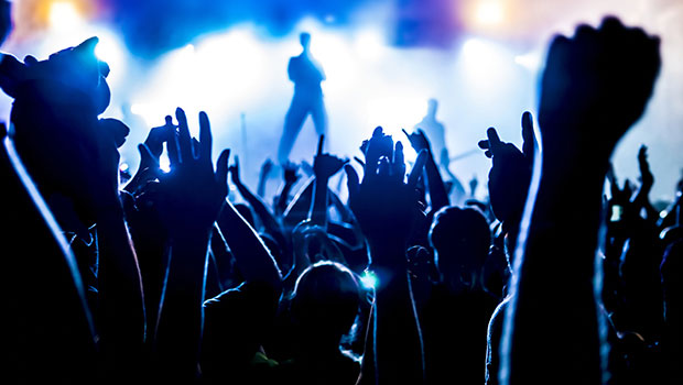 Photo of the Crowd at a Rock Concert