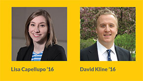 Lisa Capellupo '16 and David Kline '16