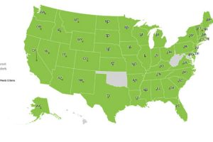 "Image of the ""Legal Map"" from the Gitenstein Institute's searchable database of nationwide advance care planning laws"