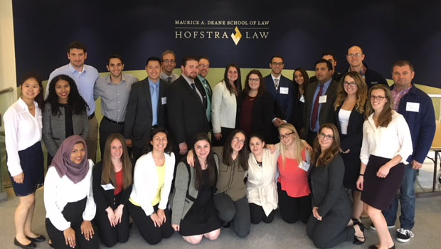 Photo of Hofstra Law student volunteers at the Nov. 5, 2107, Veterans Law Clinic