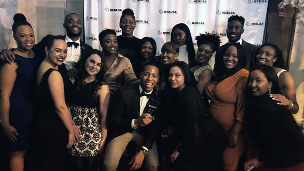Group photo of the Hofstra Law Black Law Students Association (BLSA) delegation to the 2018 Northeast Region Black Law Students Association Convention