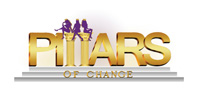 Logo of Pillars of Change, a nonprofit co-founded in 2017 by Hofstra Law student Chantal Kwade, Class of 2019