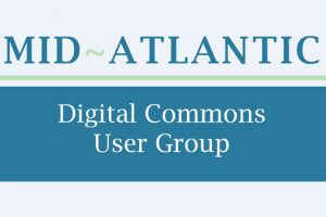 Graphic of the name of the Mid-Atlantic Digital Commons User Group