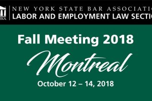 Cover of the program for the 2018 Fall Meeting of the New York State Bar Association Section on Labor & Employment Law