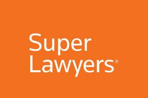 Logo of Super Lawyers, a rating service of outstanding lawyers from more than 70 practice areas who have attained a high-degree of peer recognition and professional achievement