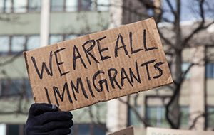 Photo of a protest sign.