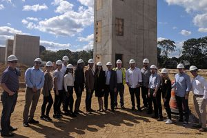Photo of students in the Real Estate Development Seminar course visiting a local construction site